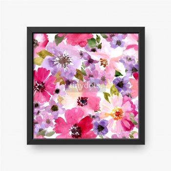 Wiosenne kwiaty w odcieniach różu i fioletu