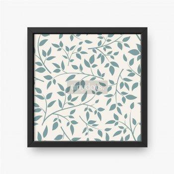 Delikatne gałązki z zielonymi listkami