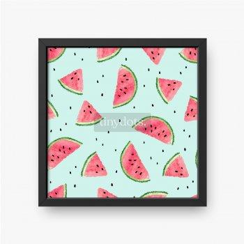 Kawałki arbuza na pastelowym tle