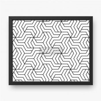Abstraktes geometrisches Muster mit Streifen, Linien. Nahtloser Vektorhintergrund. Weiße und schwarze Verzierung.