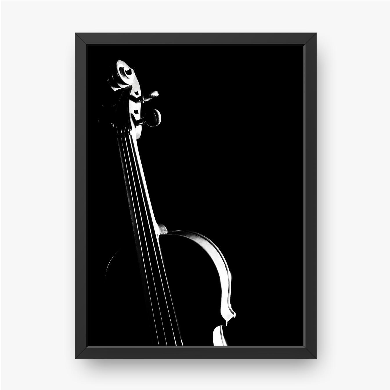 Geige auf schwarzem Hintergrund