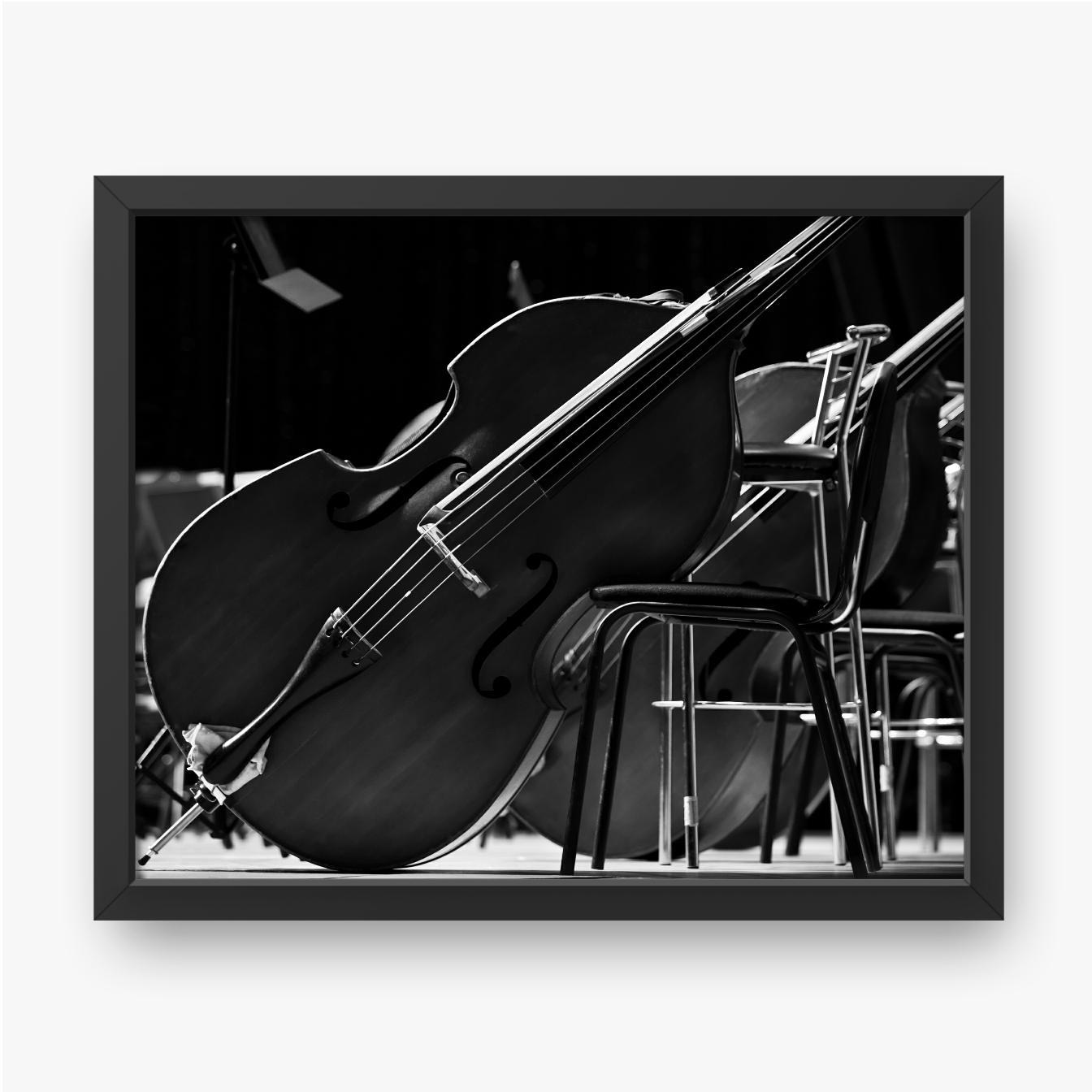 Kontrabass auf der Bühne hautnah