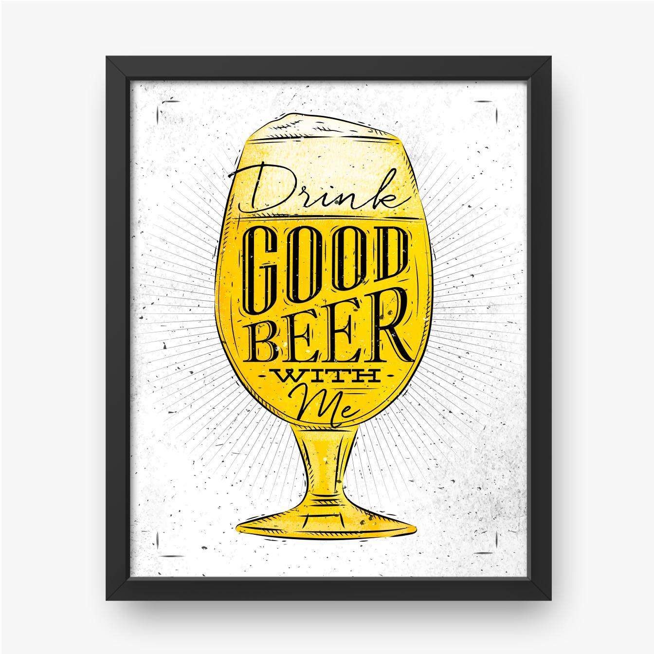 Leichtes Bier in einem becherförmigen Glas
