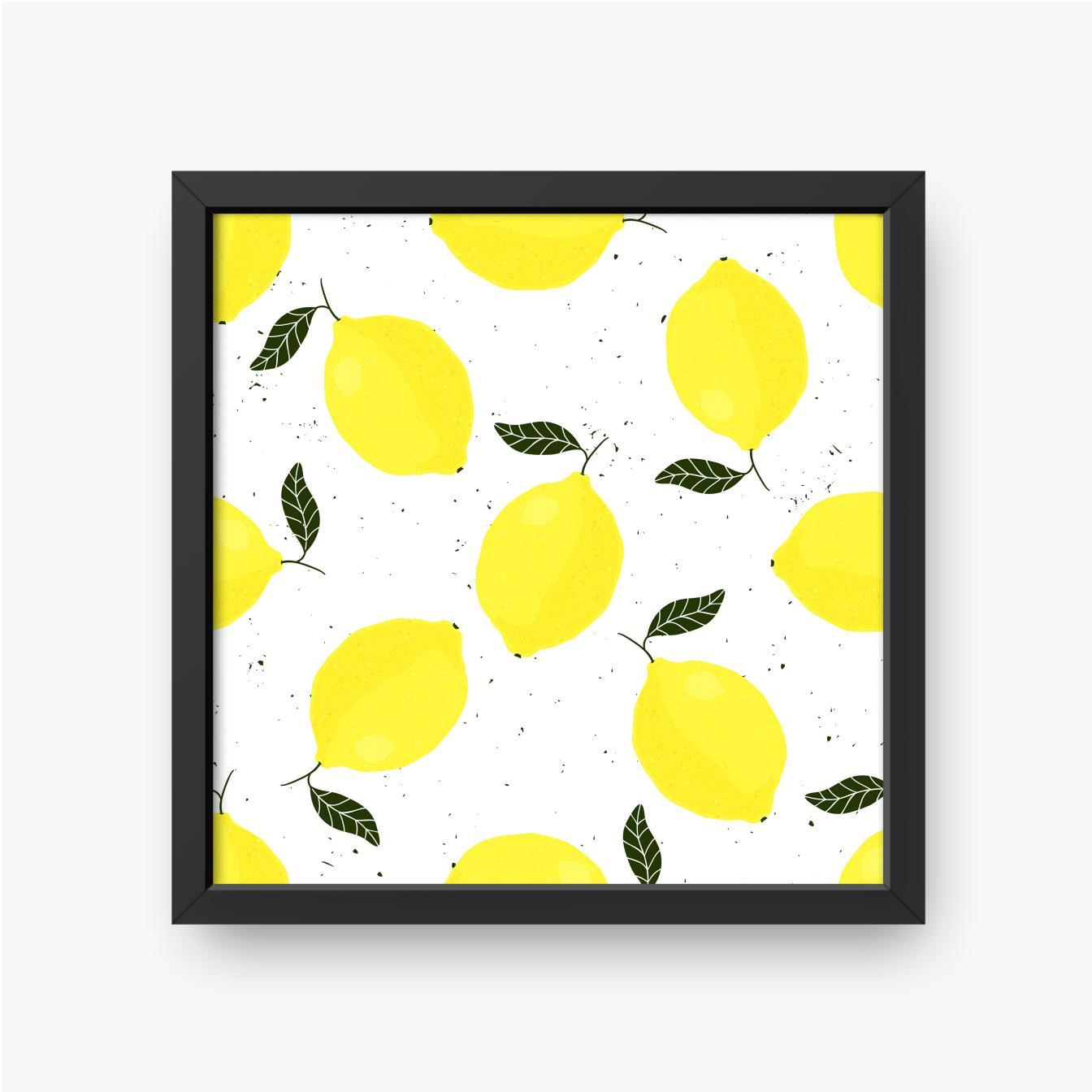 Zitronen mit Blättern auf hellem Hintergrund