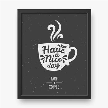 Filiżanka do kawy na czarnym tle