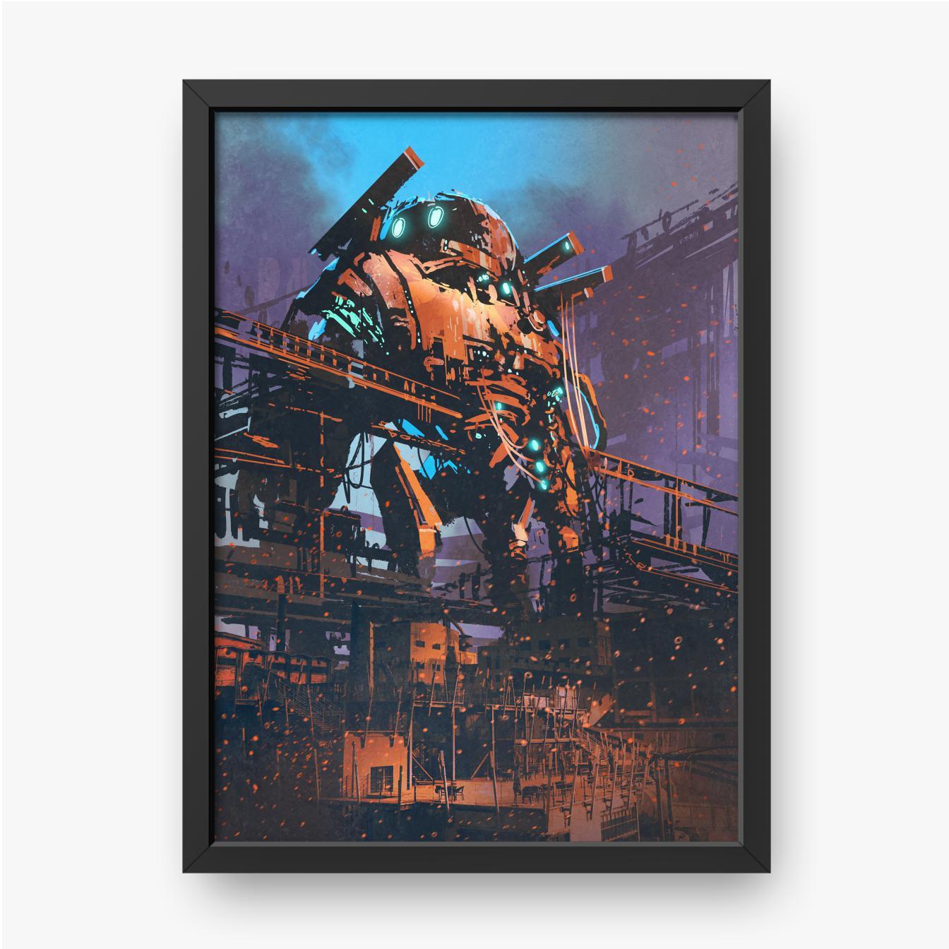 Przywrócenie starego robota w opuszczonej fabryce
