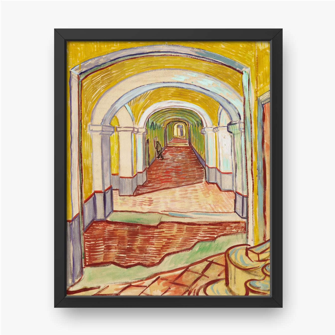 Vincent van Gogh, Korridor in der Anstalt, 1889