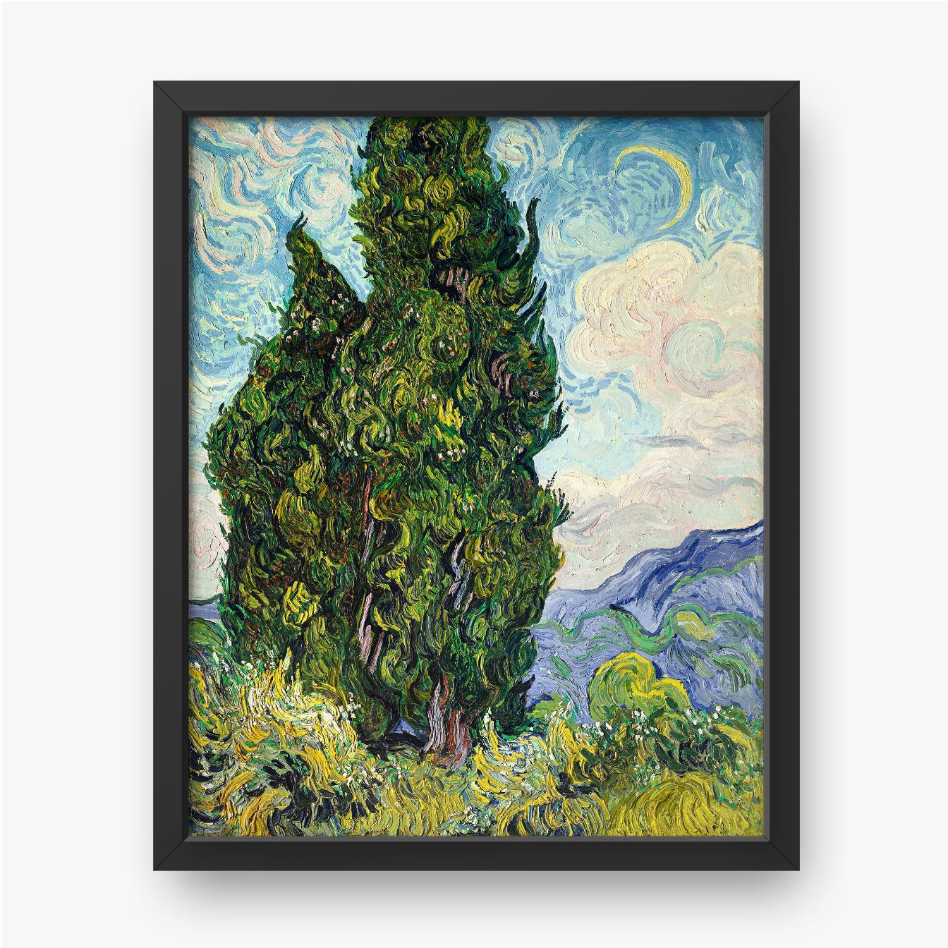 Vincent van Gogh, Cyprysy, 1889