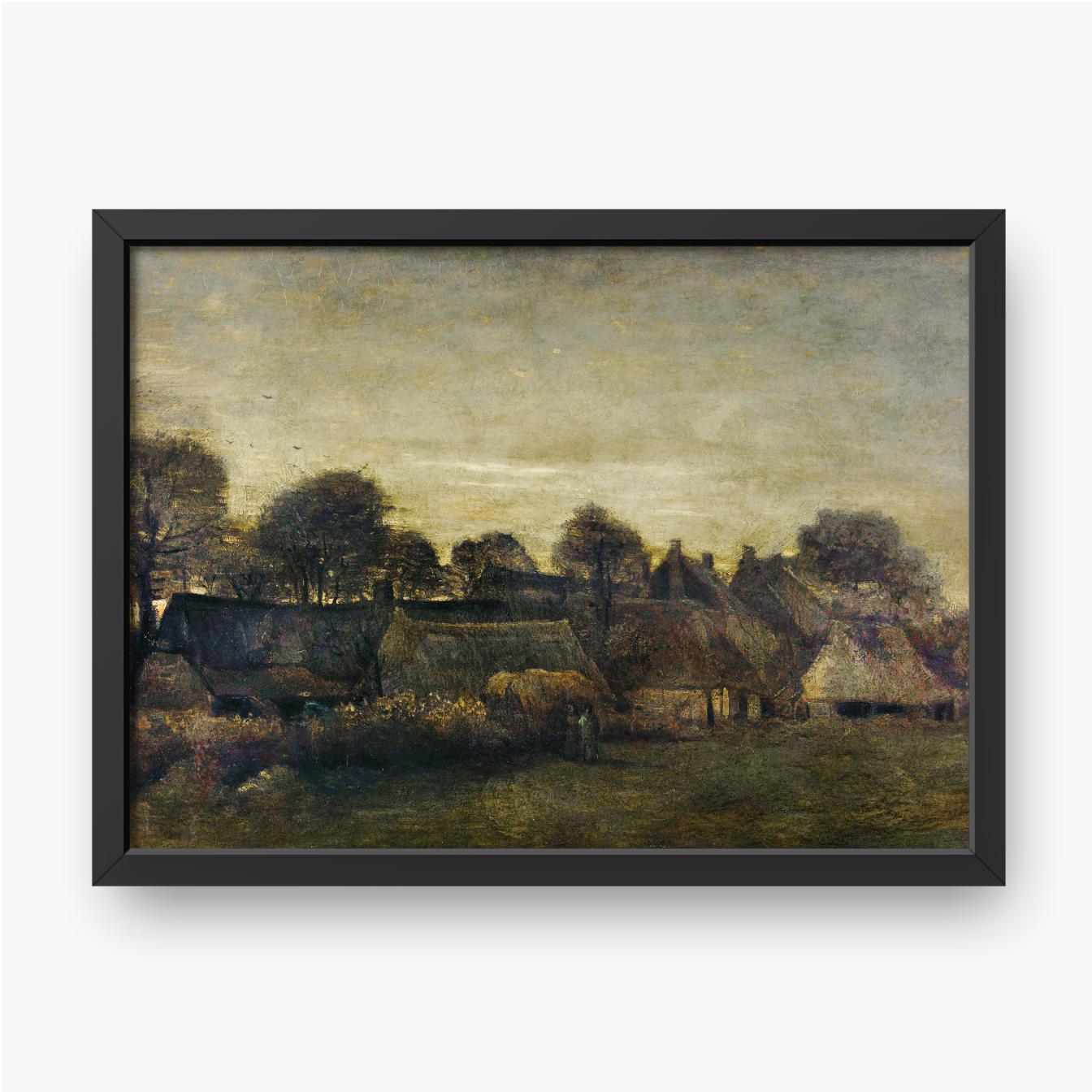 Vincent van Gogh, Bauerndorf in der Dämmerung, 1884
