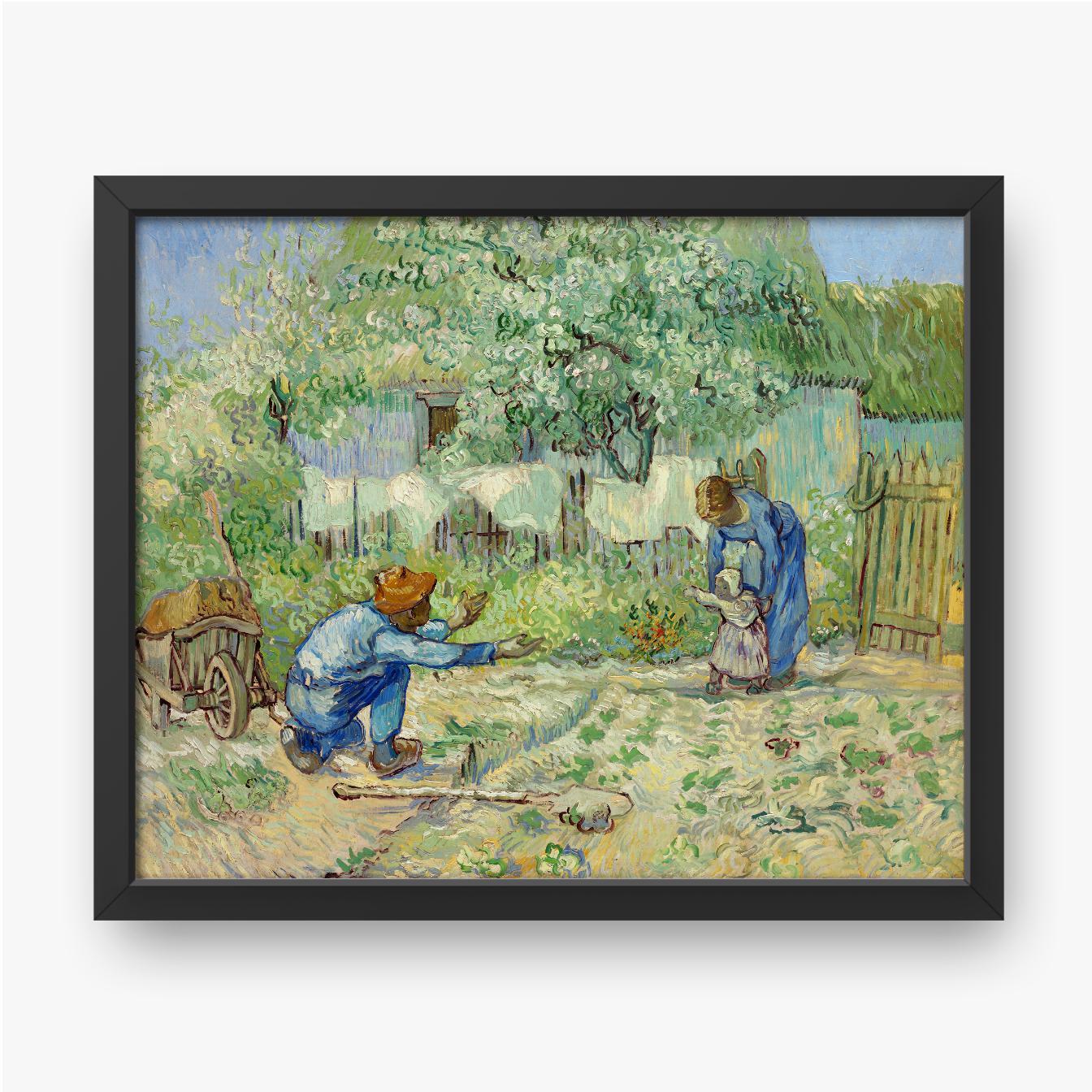 Vincent van Gogh, Pierwsze kroki, według Milleta, 1890