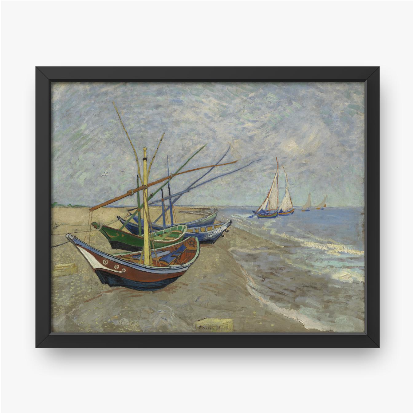 Vincent van Gogh, Łodzie rybackie na plaży w Saintes Maries de la Mer, 1888