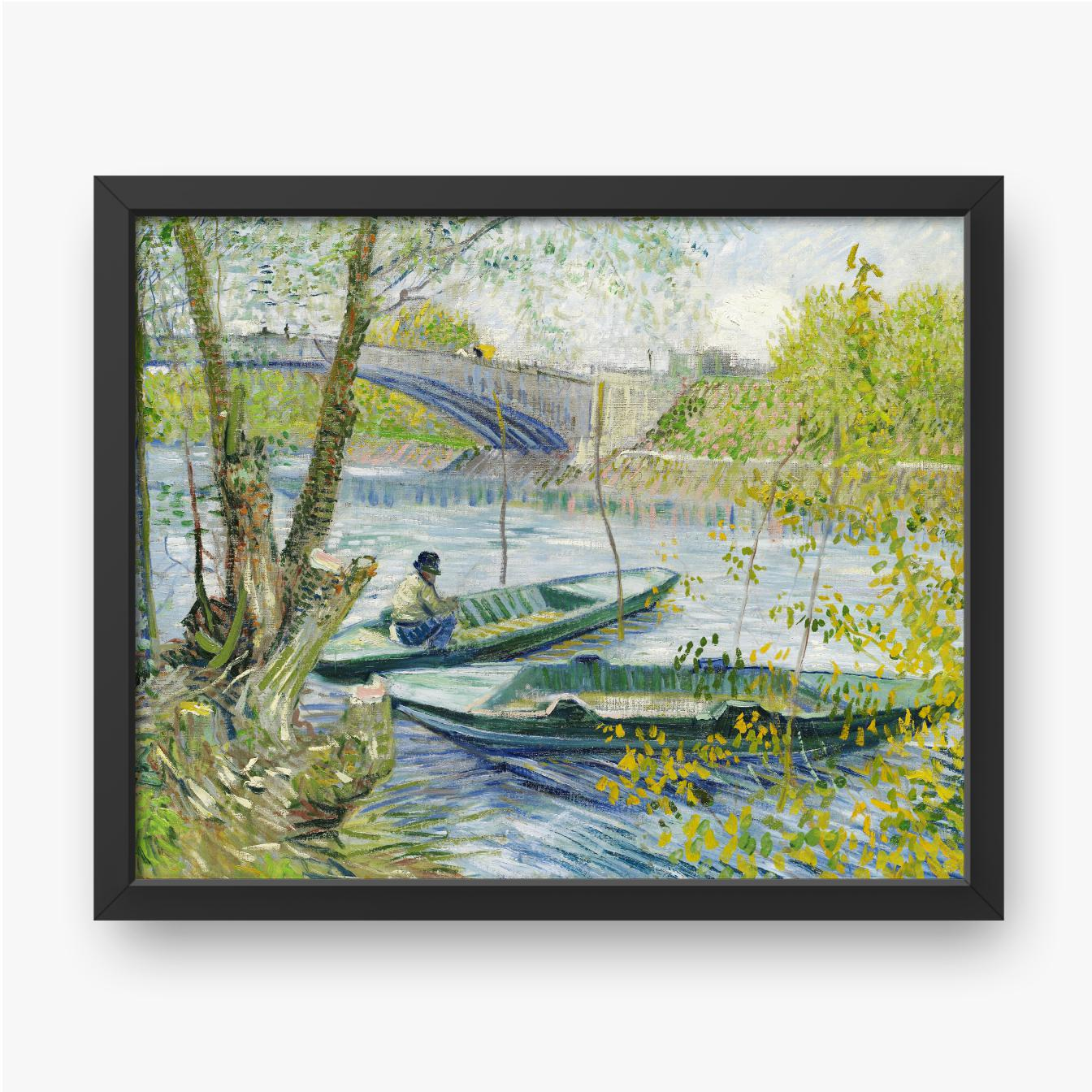 Vincent van Gogh, Angeln im Frühjahr 1889