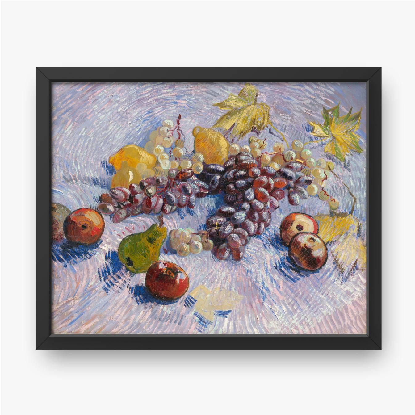 Vincent van Gogh, Winogrona, cytryny, gruszki i jabłka, 1887