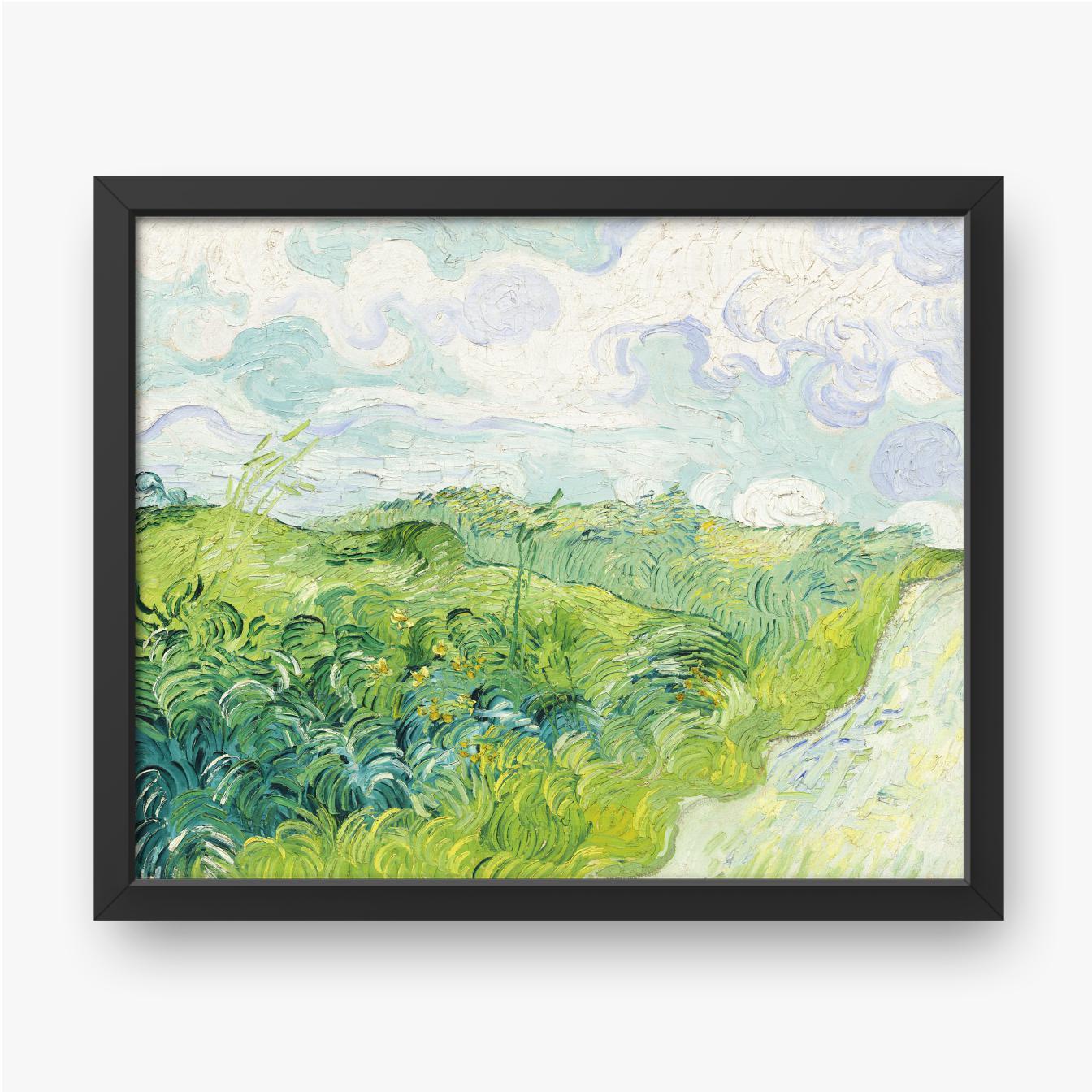 Vincent van Gogh, Grüne Weizenfelder, Auvers, 1890