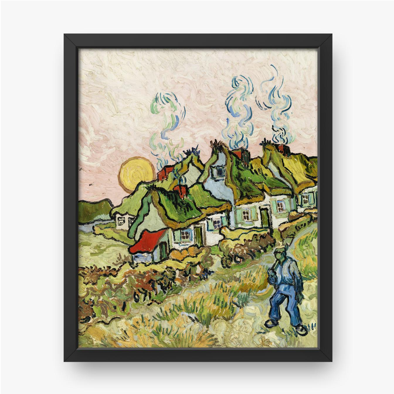 Vincent van Gogh, Häuser und Figur, 1890