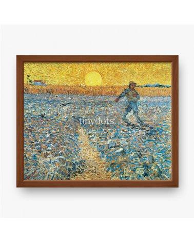 Gerahmtes Poster Vincent van Gogh, Der Sämann, 1888