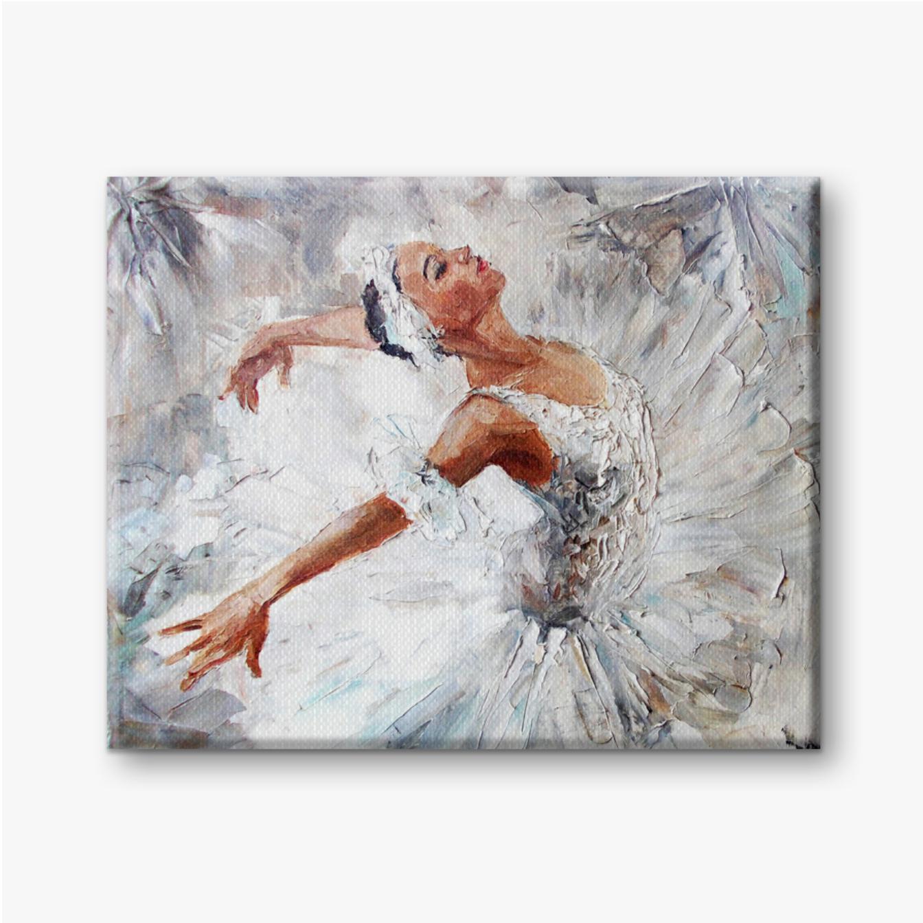 Mädchenballerina, gezeichnete niedliche Ballerina tanzen