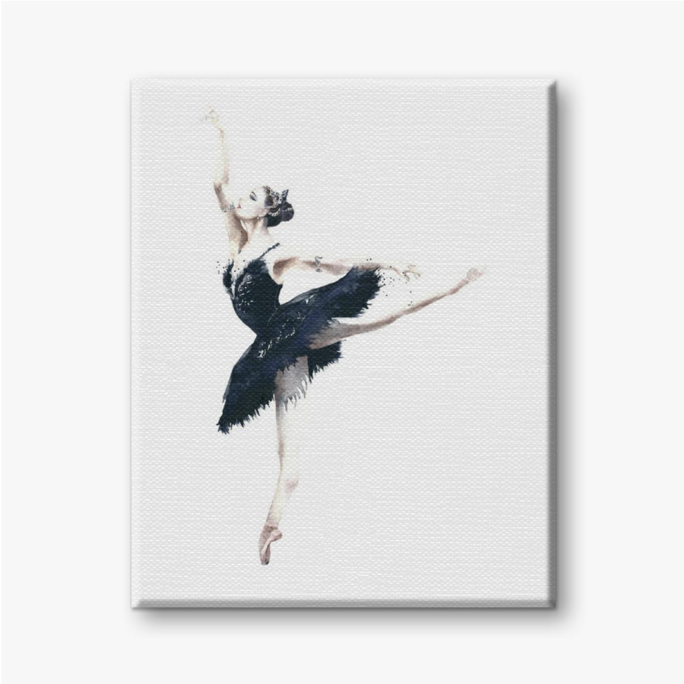 Ballerina Tänzer Odile schwarzer Schwan, Schwanensee