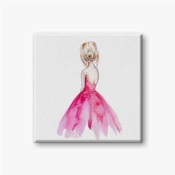 Ballerina in der rosa Tutu-Rock-Aquarellhandzeichnungillustration mit weißem lokalisiertem Hintergrund