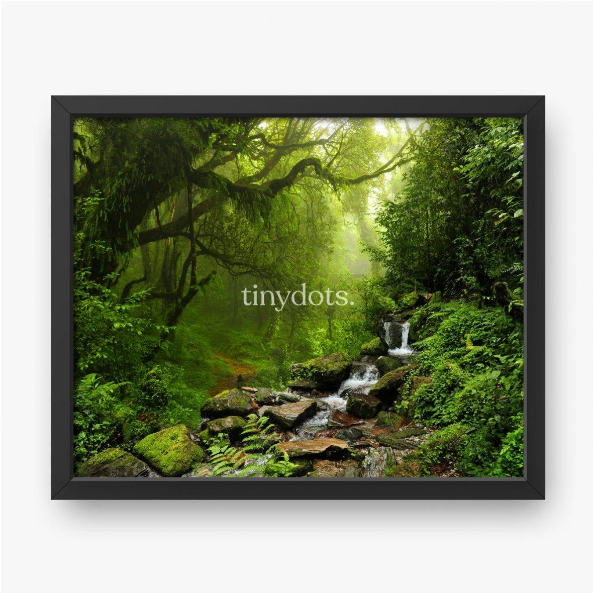 Plakat w ramie Selva de Nepal